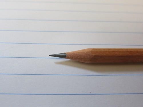 削った後の鉛筆