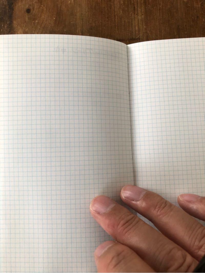 測量野帳の裏写り